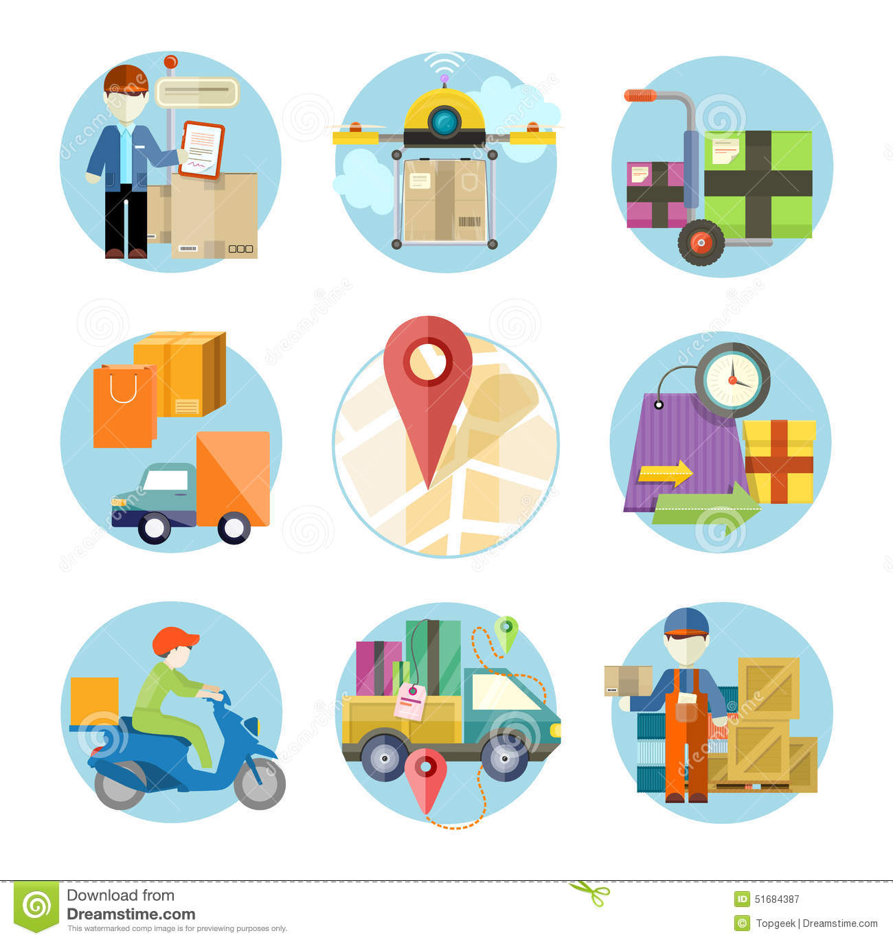Concept Of Services In Delivery Goods Stock Vector