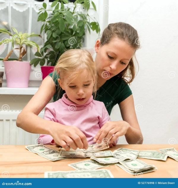 Kids Holding Money Bills Royalty-Free Illustration ...