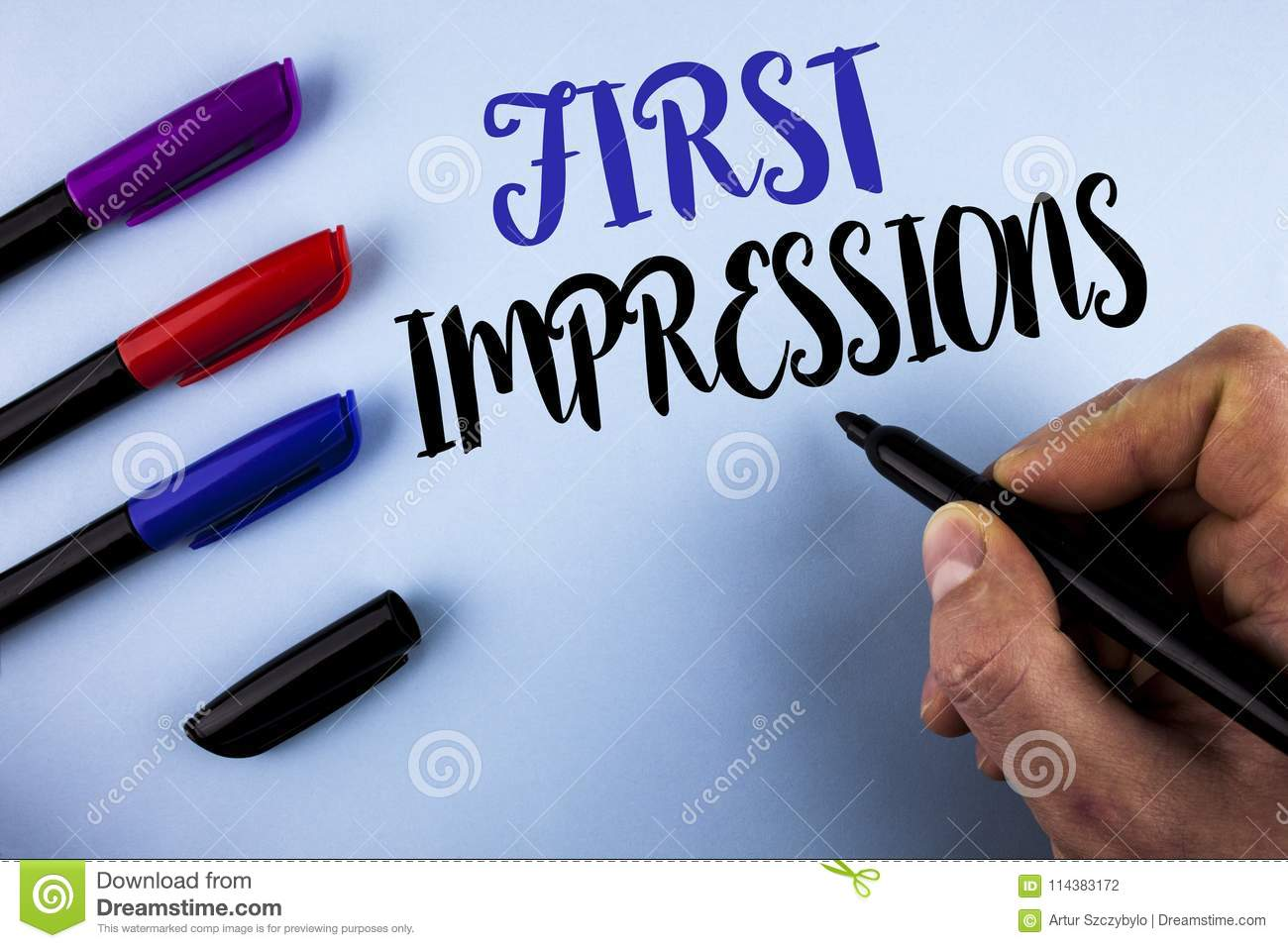 Conceptual Hand Writing Showing First Impressions