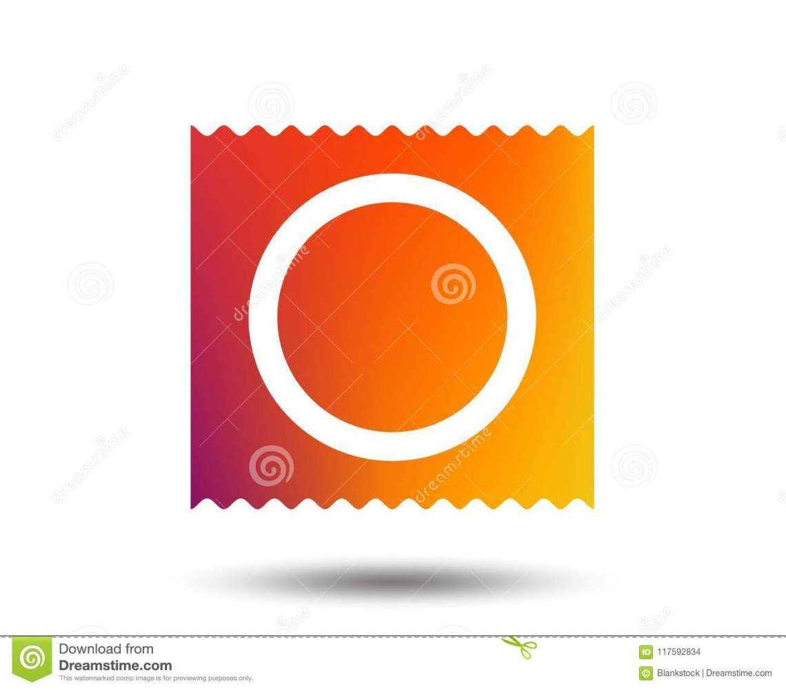 Download Condom In Package Safe Sex Sign Icon. Safe Love. Stock ...