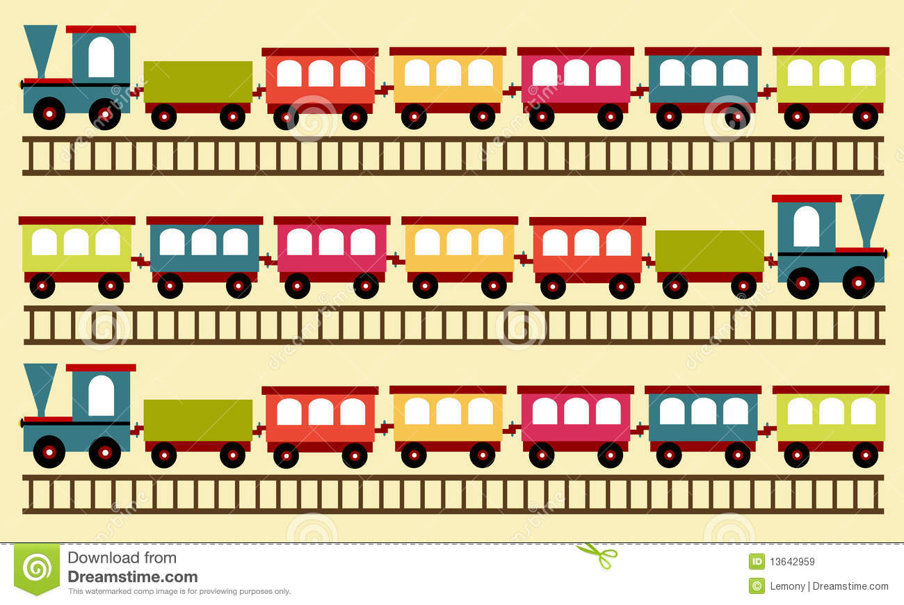 Configuration De Train Papier Peint Illustration De