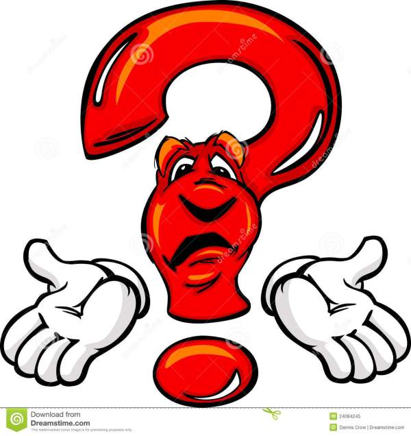 Confused Cartoon Question Mark With Hands Royalty Free
