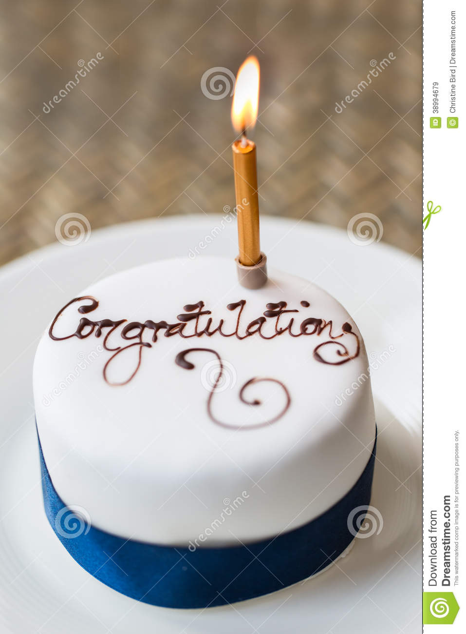 Congratulations Cake Stock Photo Image 38994679