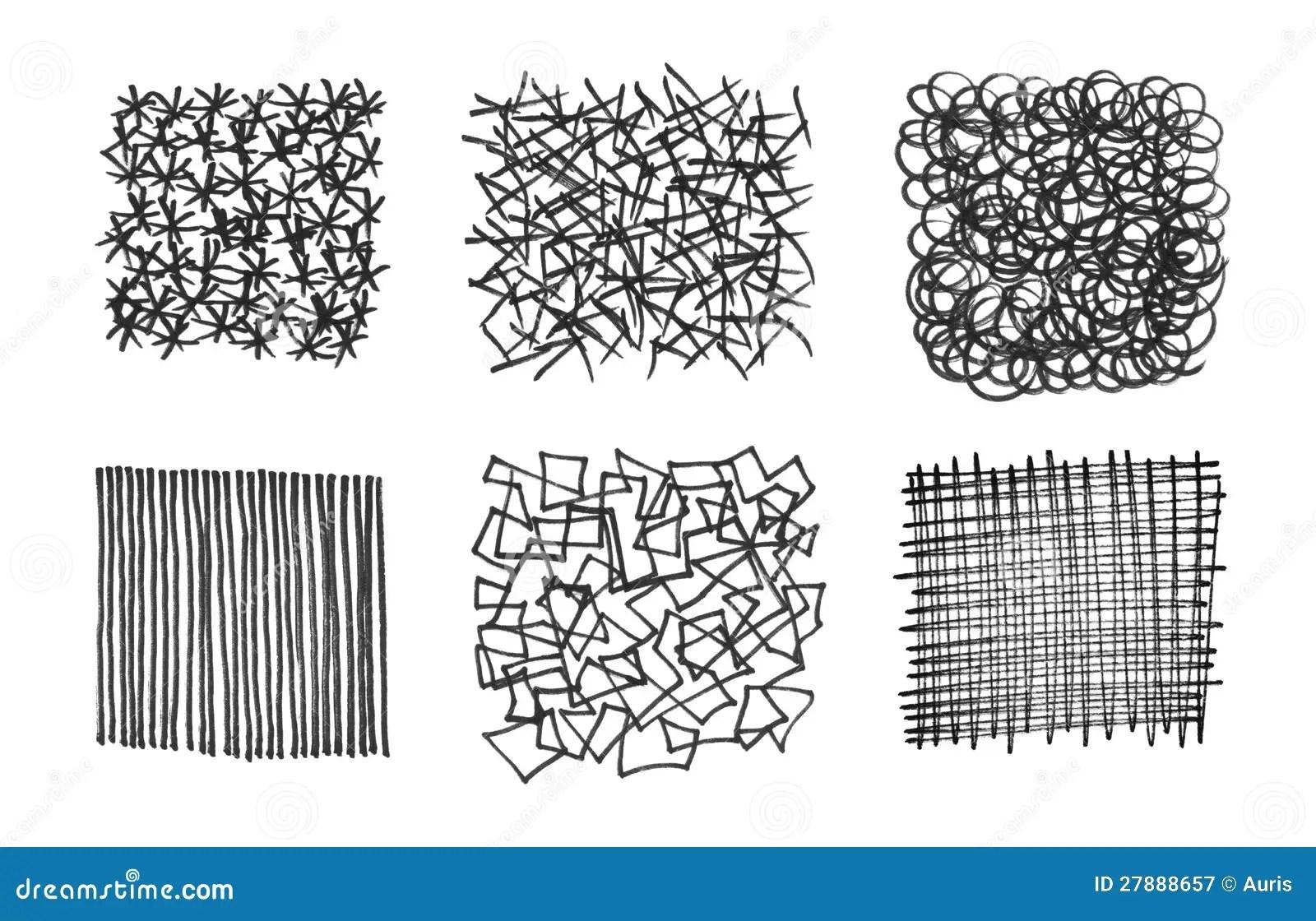 Conjunto De Texturas Frotadas Ligeramente Stock De