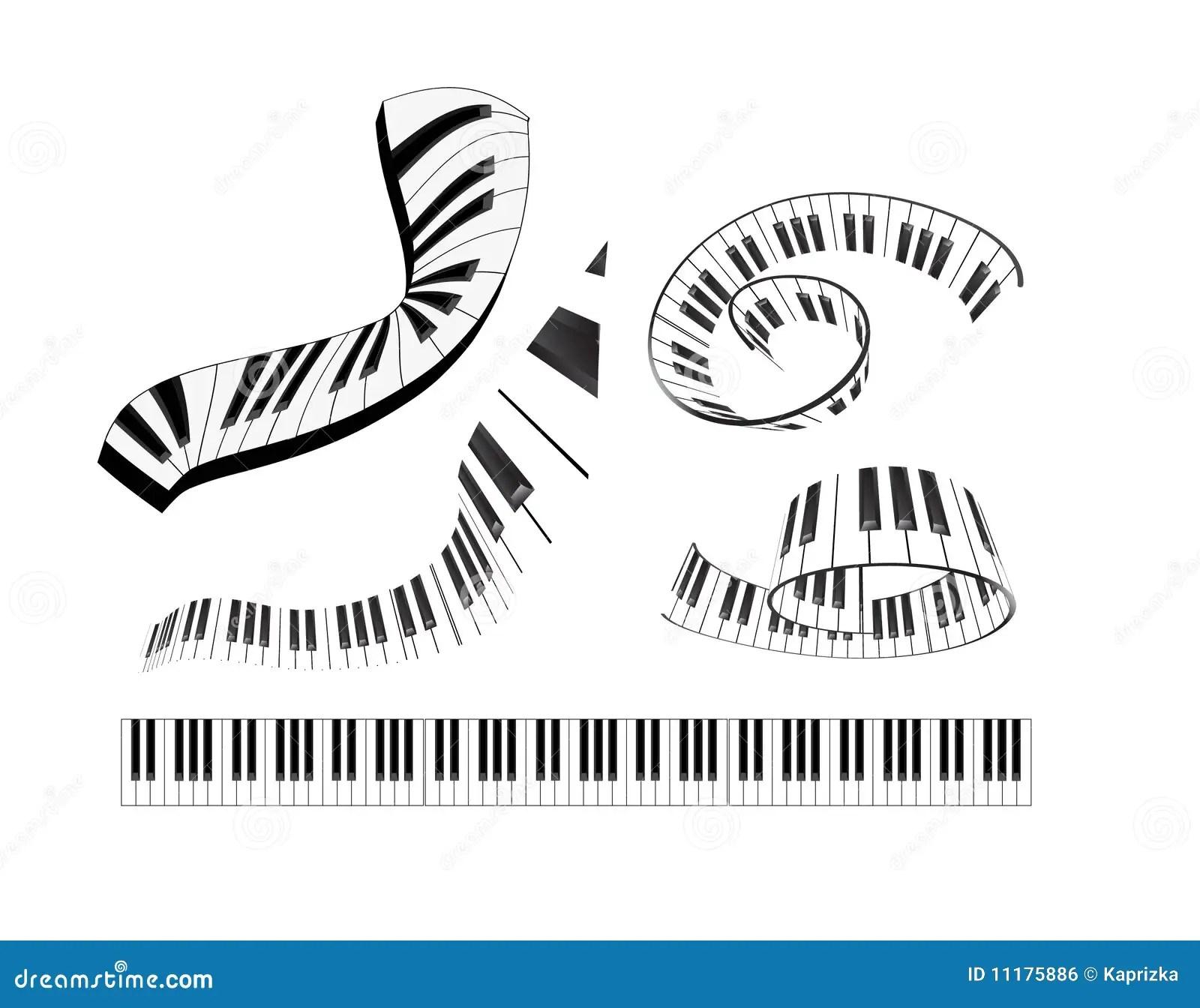 Conjunto Del Teclado De Piano Abstracto