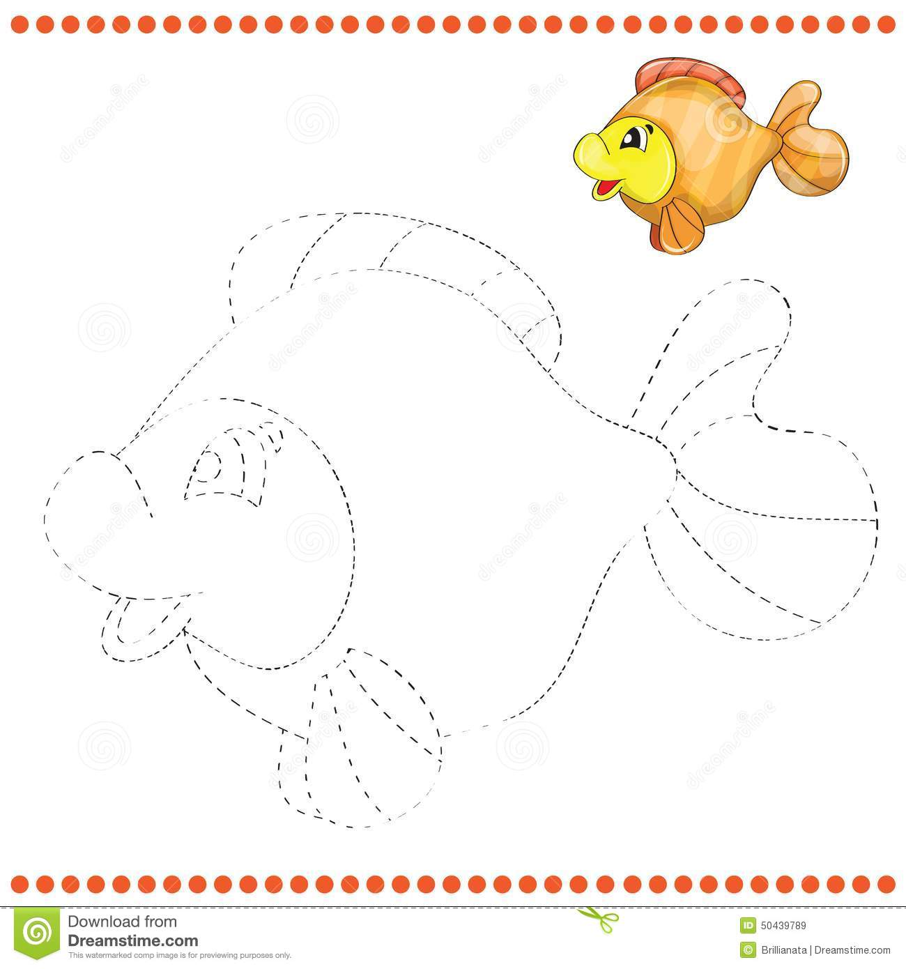 Connect The Dots And Coloring Page Stock Vector