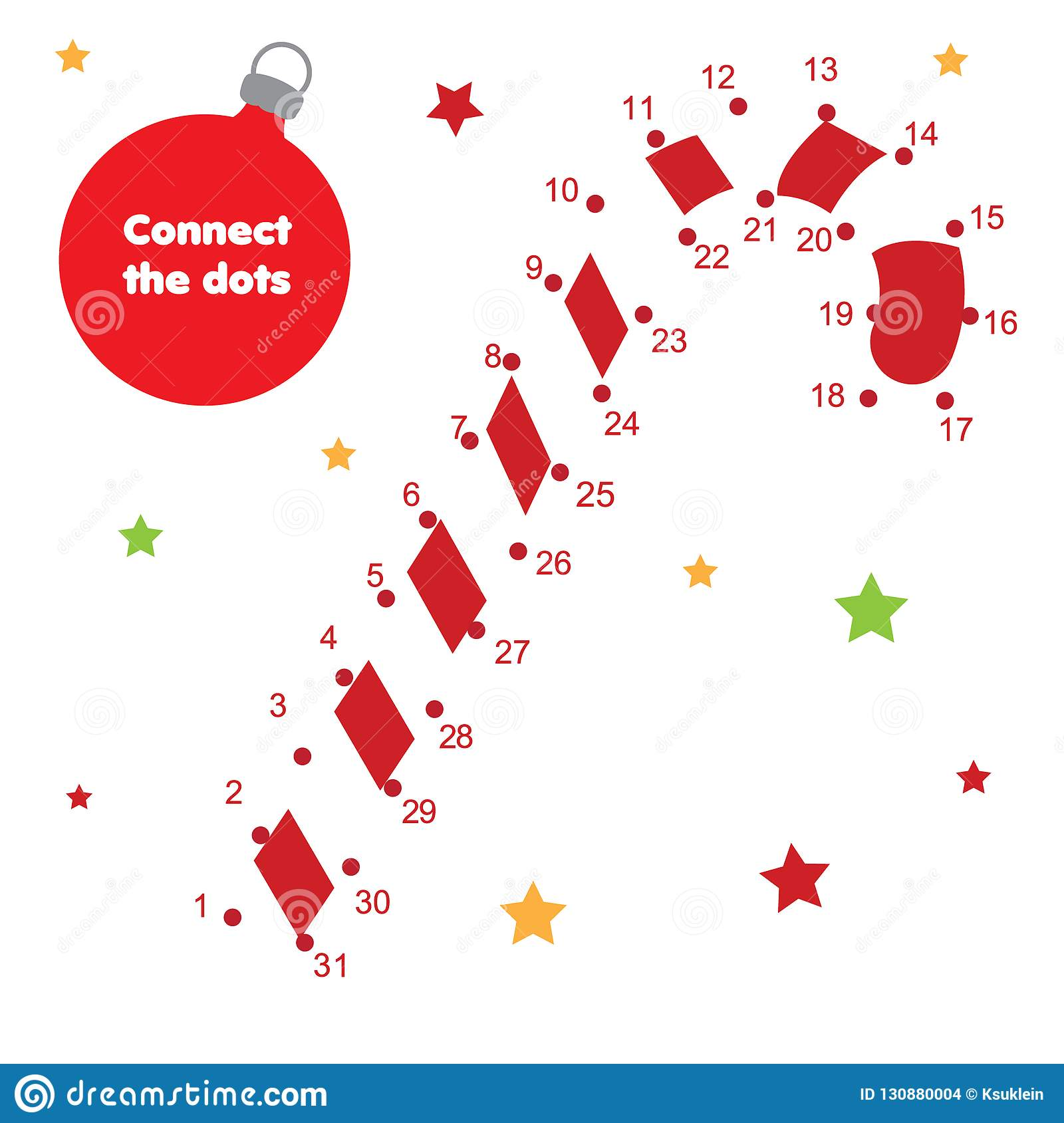 Connect The Dots By Numbers Children Educational Game New