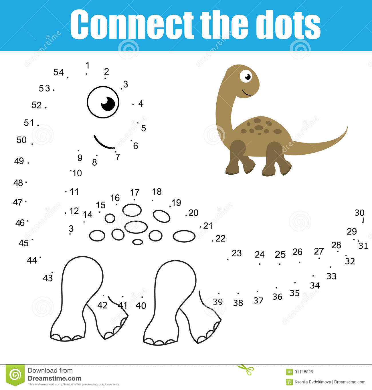 Connecting Numbers Worksheet
