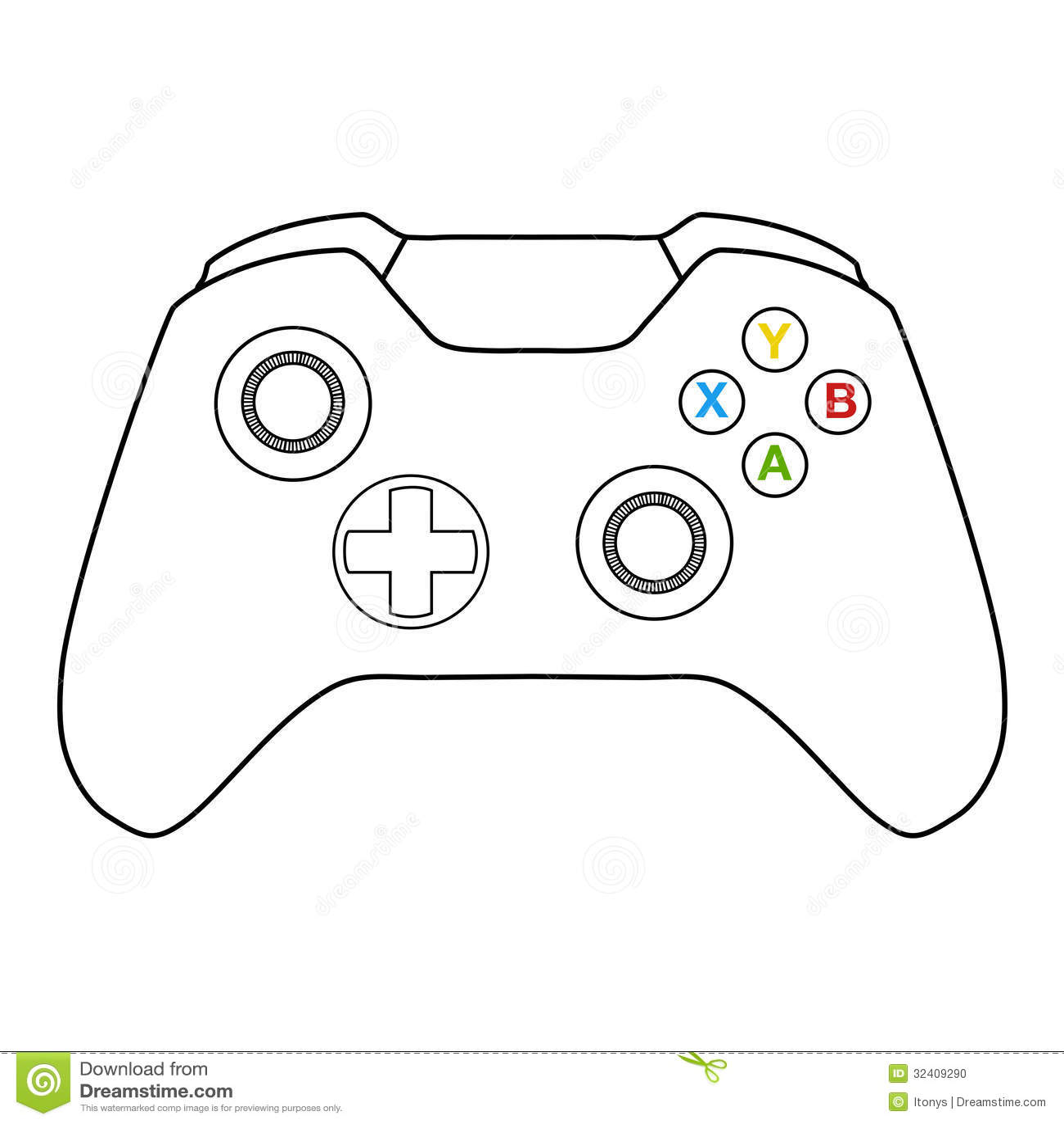 Console Controller Stock Illustration Illustration Of