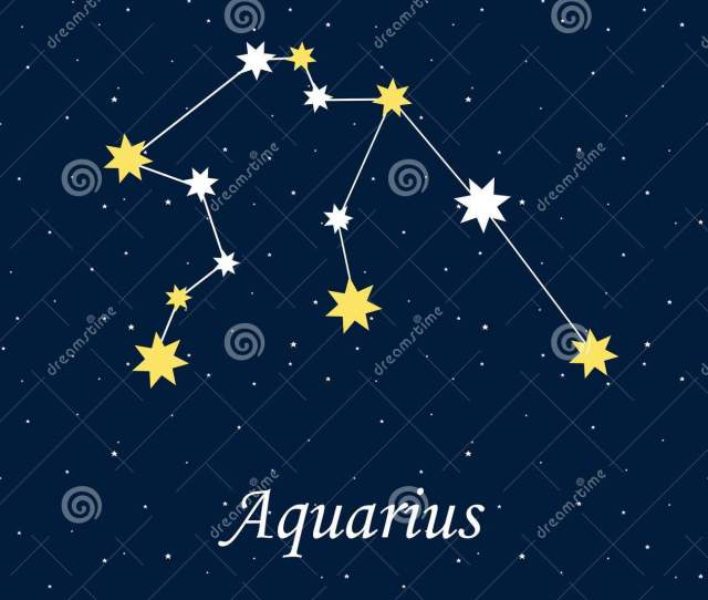 Constellation Aquarius Zodiac Horoscope Astrology Stars Night Il