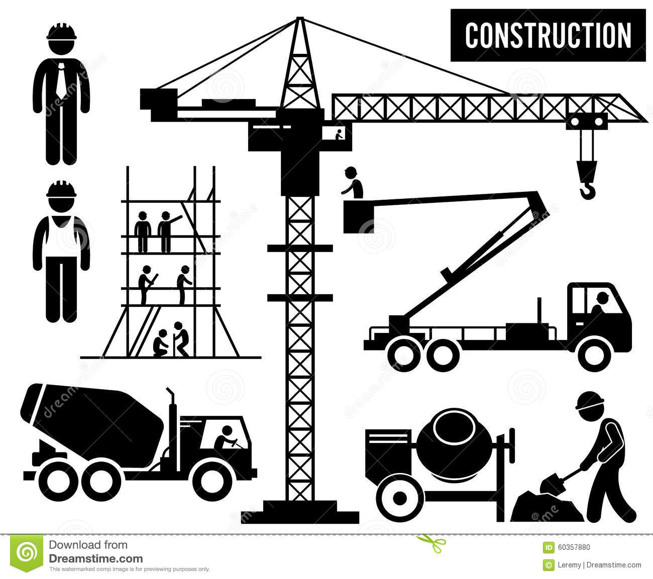 Company Signs At Construction Sites
