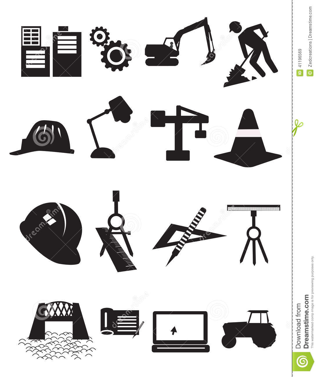 Construction Icons Stock Vector