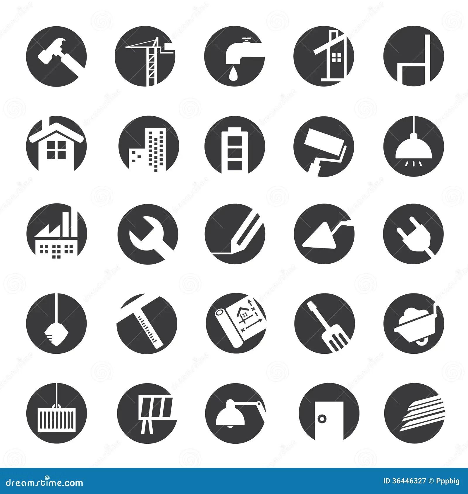 Construction Icons Stock Illustration Illustration Of