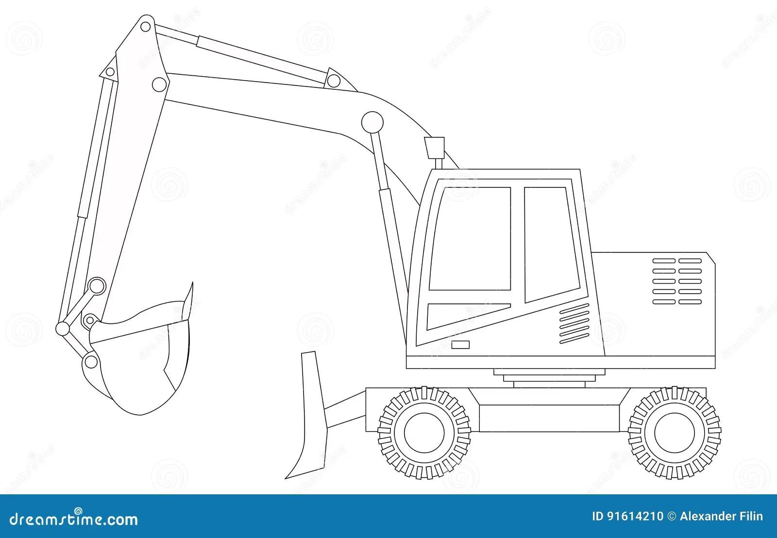 Excavator Cartoons Illustrations Amp Vector Stock Images