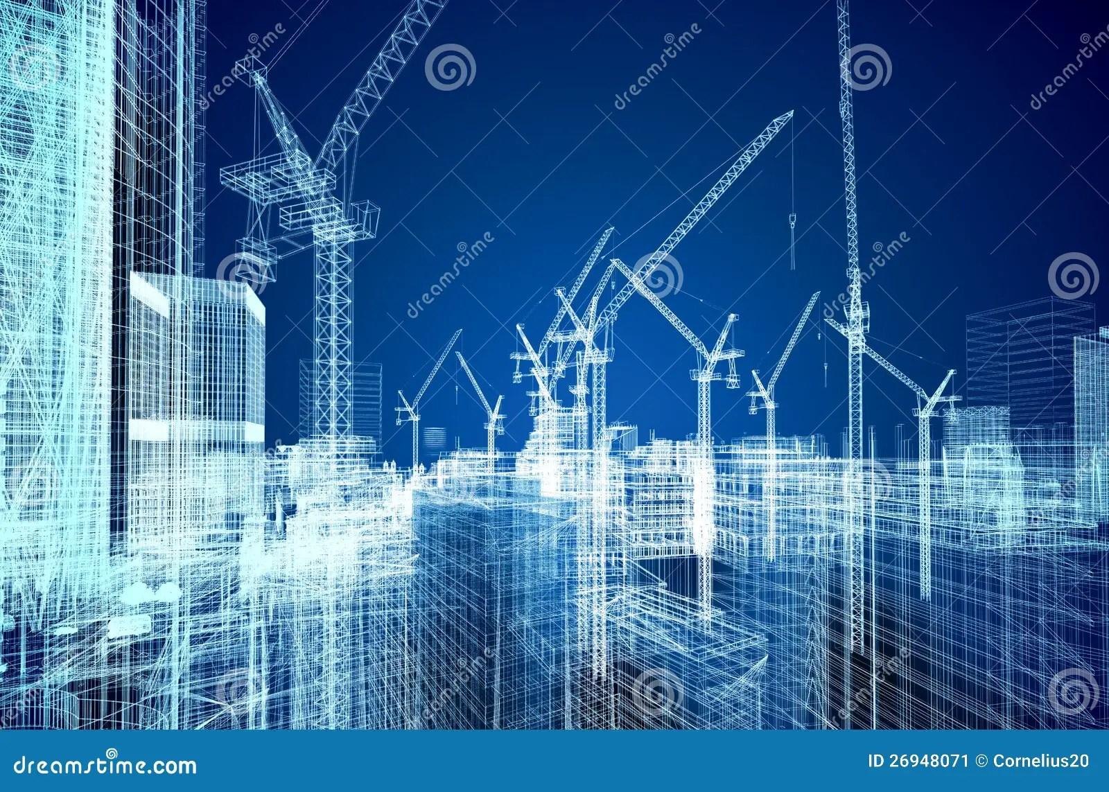 Construction Site Blueprint Stock Image Image 26948071