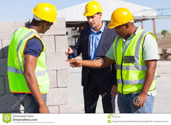 Construction Workers Manager Royalty Free Stock Photo ...
