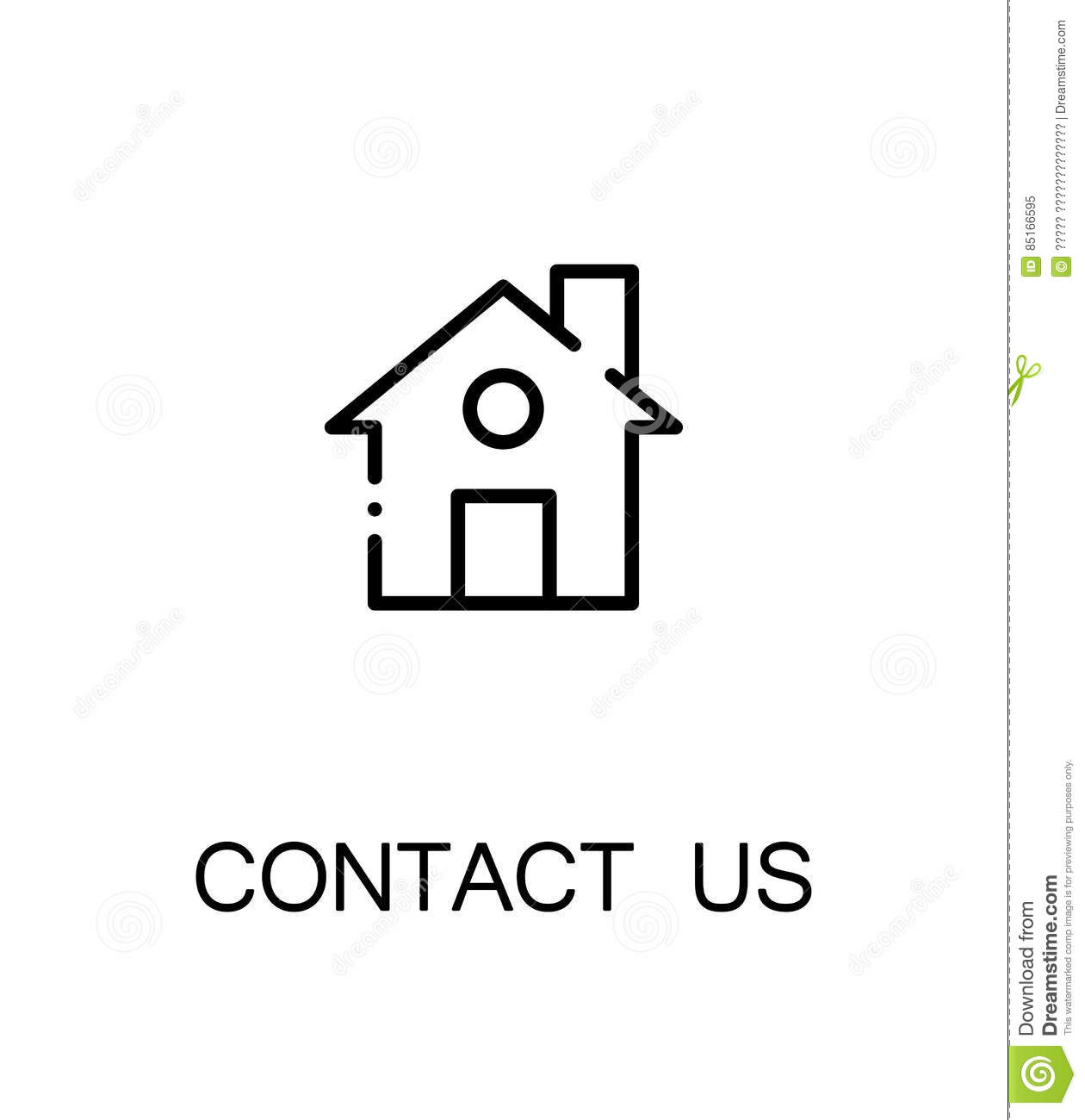 Contact Us Icon Stock Vector Illustration Of Rent