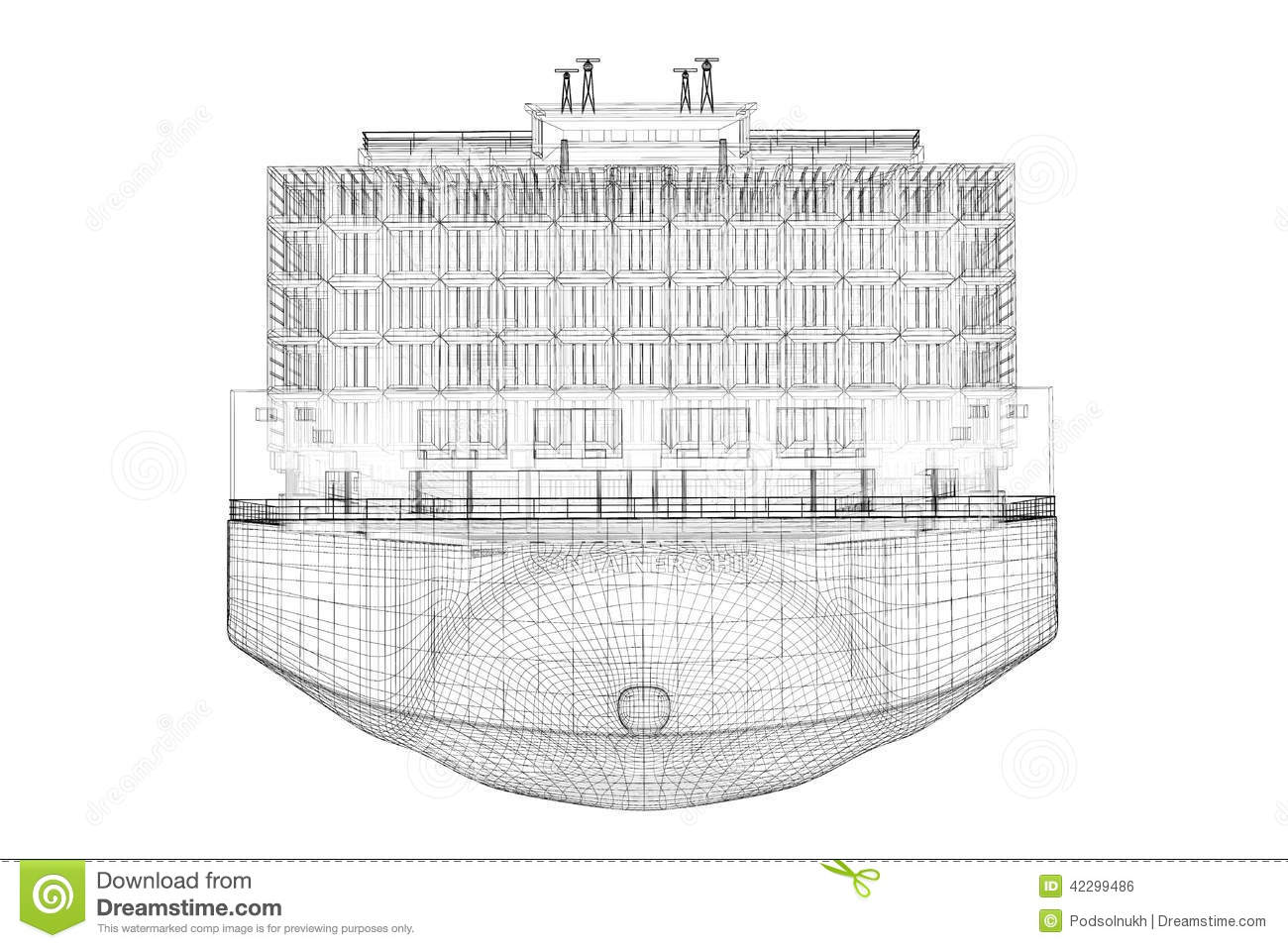 Container Ship Cargo Stock Illustration Illustration Of