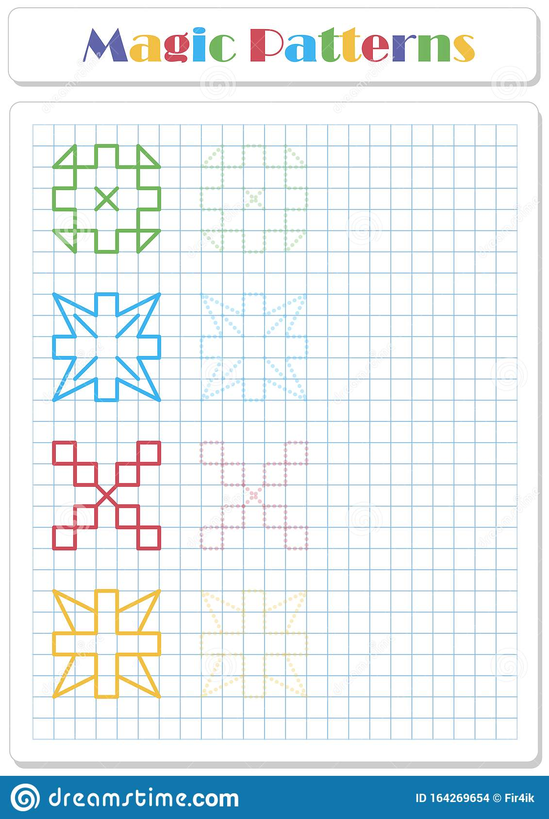 Continue The Snowflake Pattern With Crayons Or Felt Tip