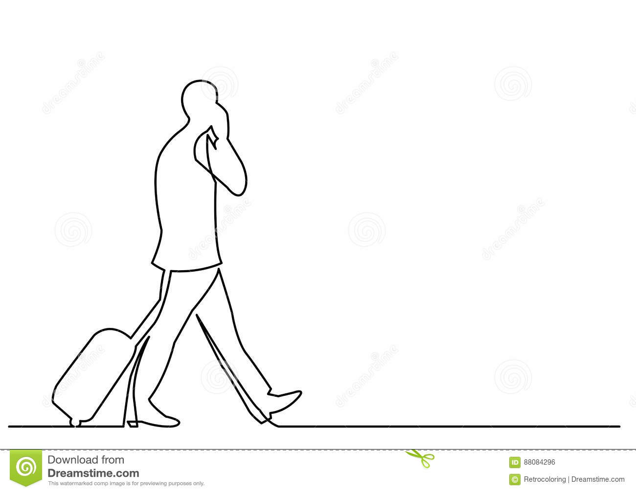 Walking Line Vector