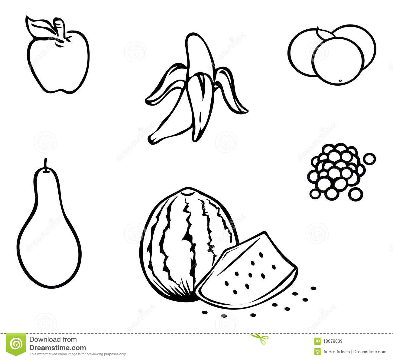 Contour De Fruits Illustration De Vecteur Illustration Du