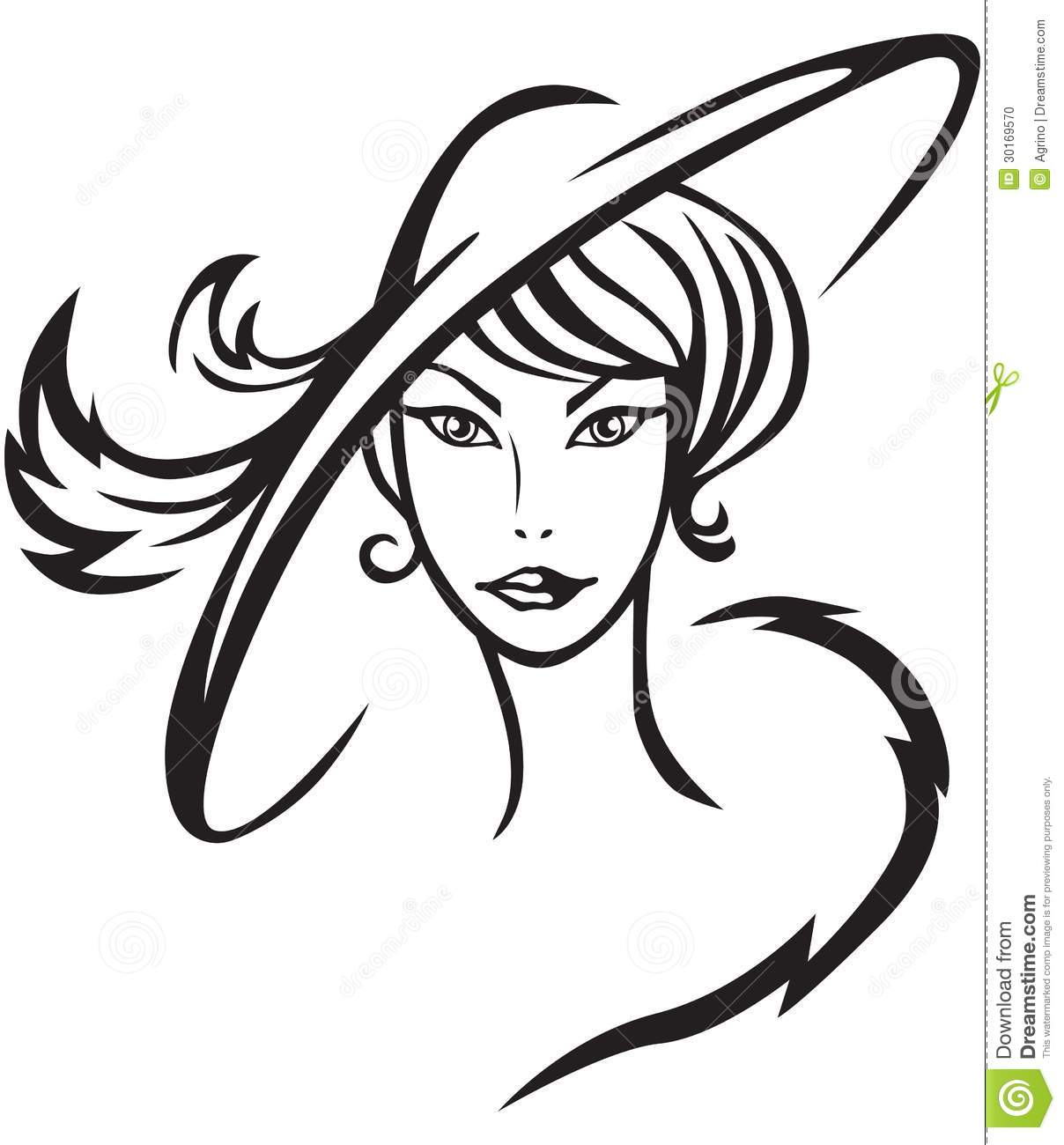 Beautiful Lady In Hat Stock Photo