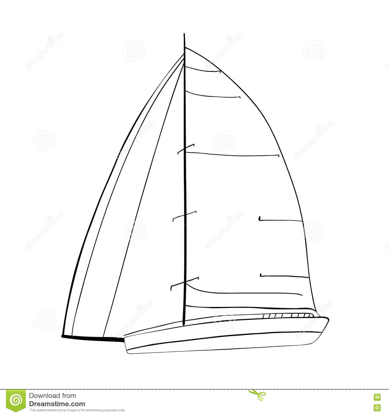 Simple Sailing Boat Diagram