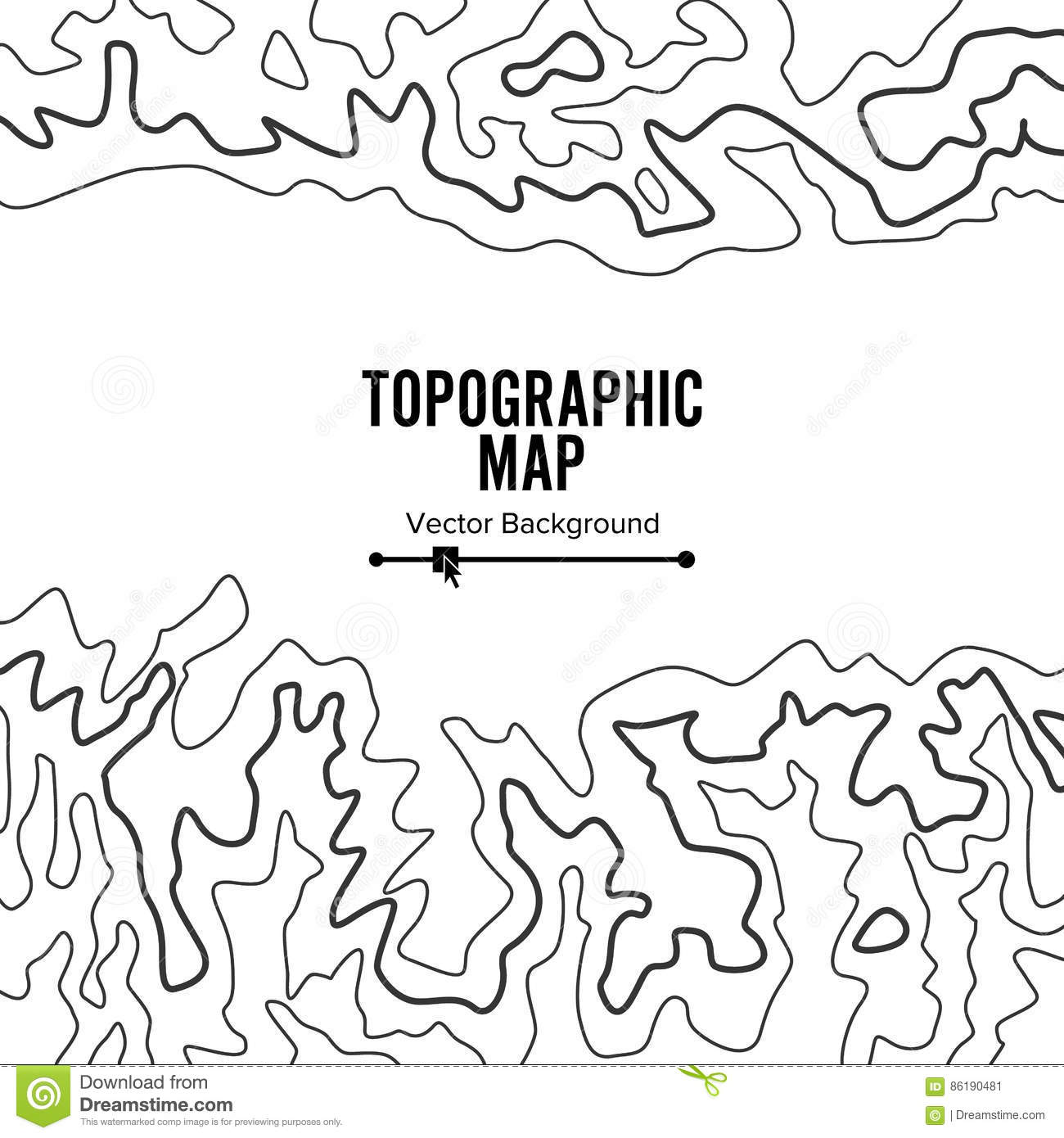 Contour Topographic Map Vector Geography Wavy Backdrop