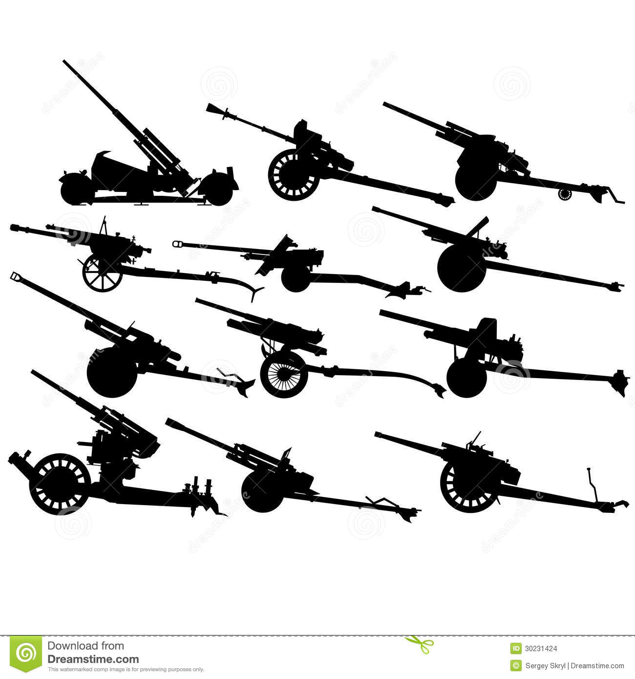 Antitank Artillery 2nd World War 1 Stock Vector