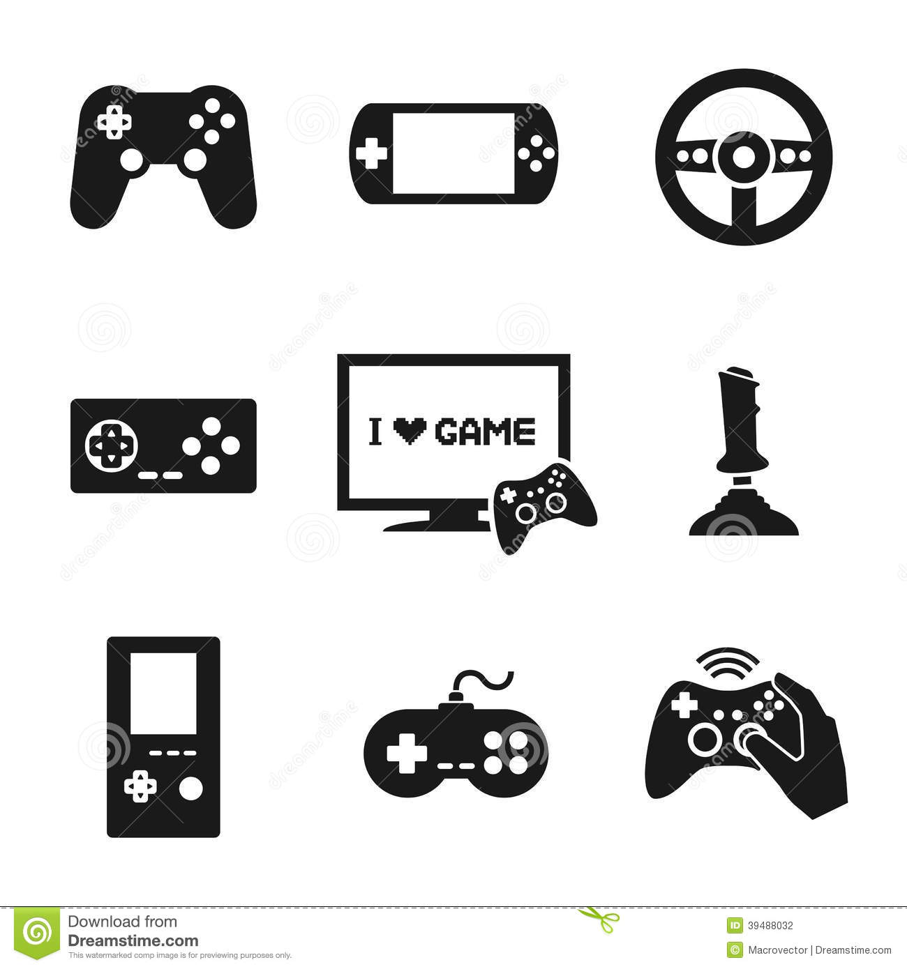 Controleur Icons Set De Jeux Video Illustration De Vecteur