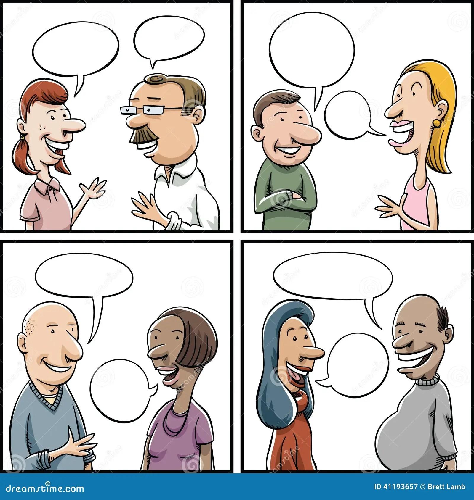 Conversation Panels Stock Illustration