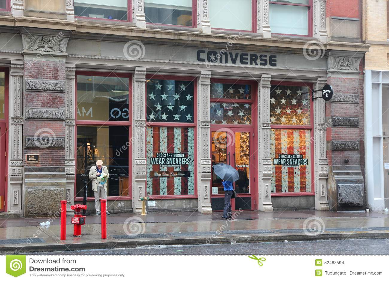 Converse Store Manhattan Editorial Stock Image Image Of