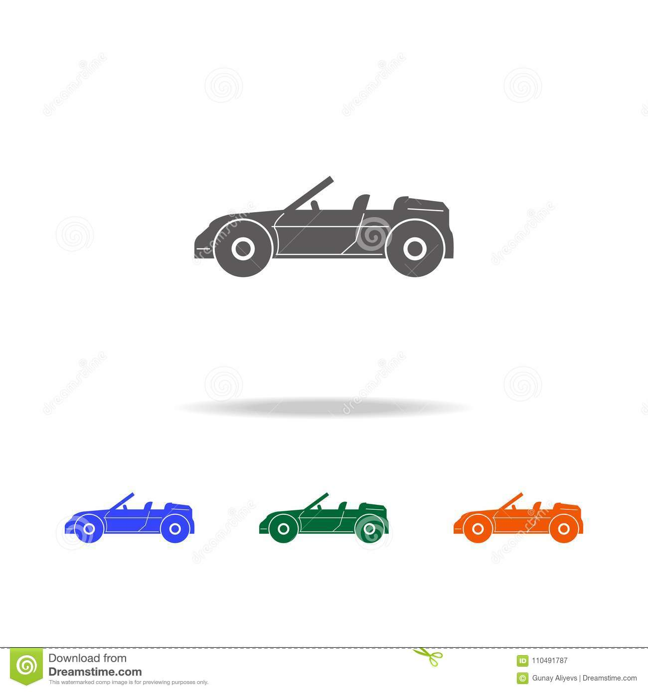 Convertible Sports Car Icon Types Of Cars Elements In