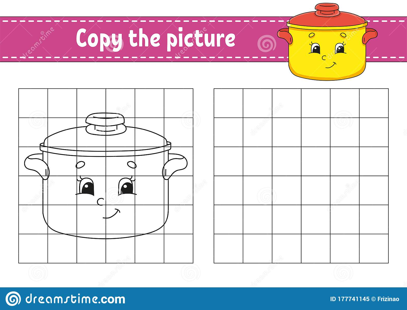 Copy The Picture Stewpan Coloring Book Pages For Kids