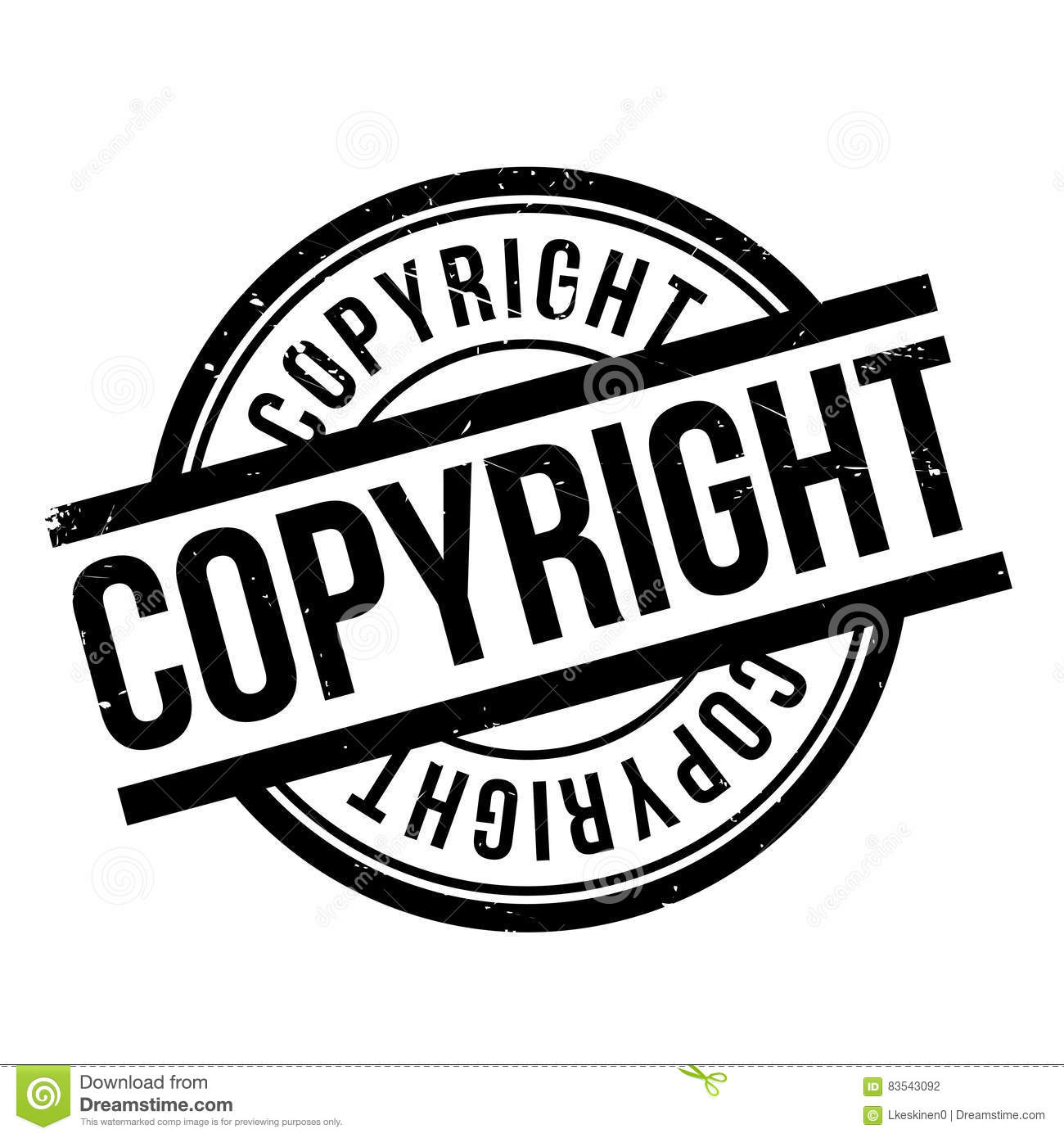 Copyright Law Rubber Stamp Vector Illustration