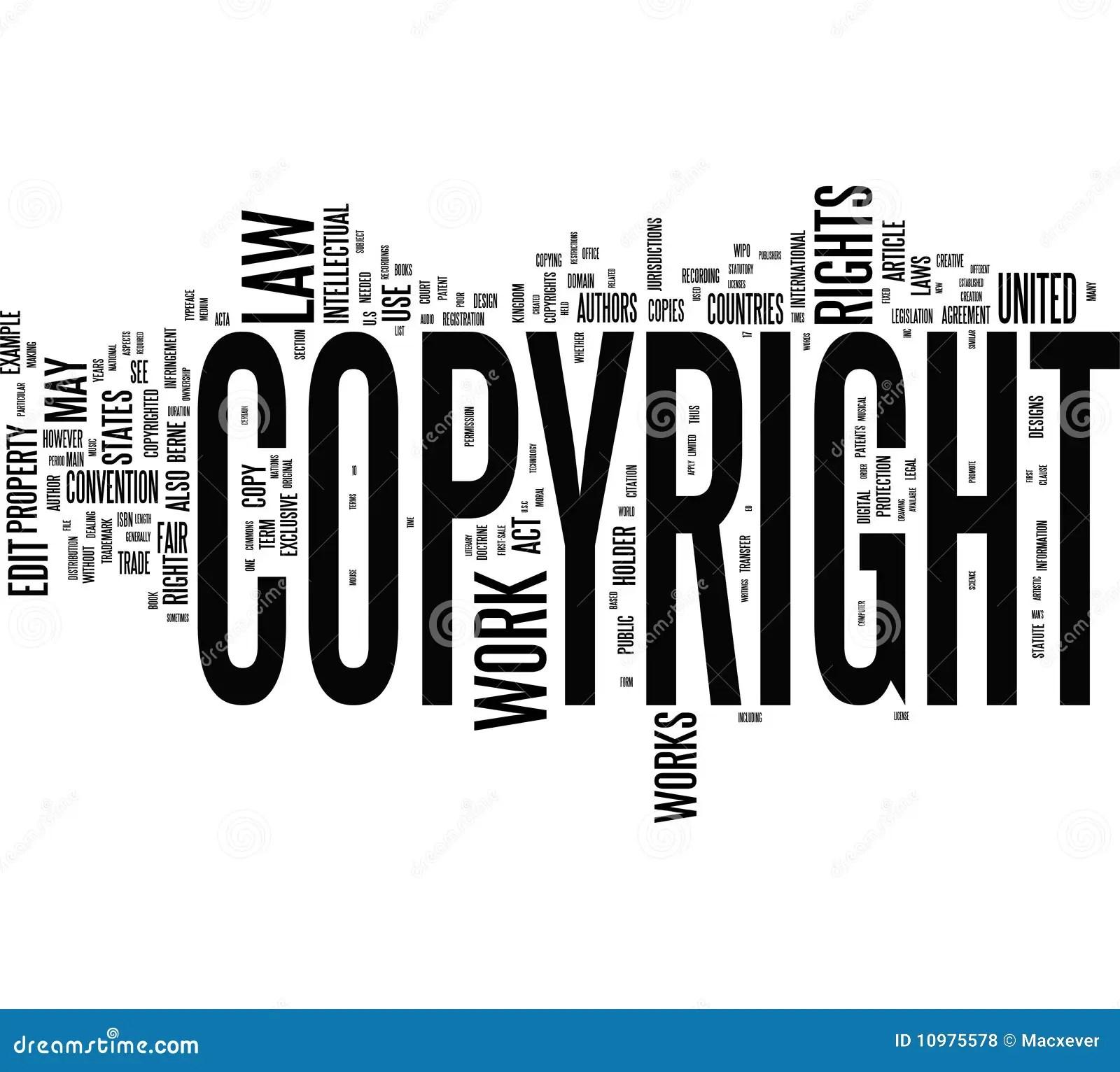 Copyright Words Stock Illustration Illustration Of