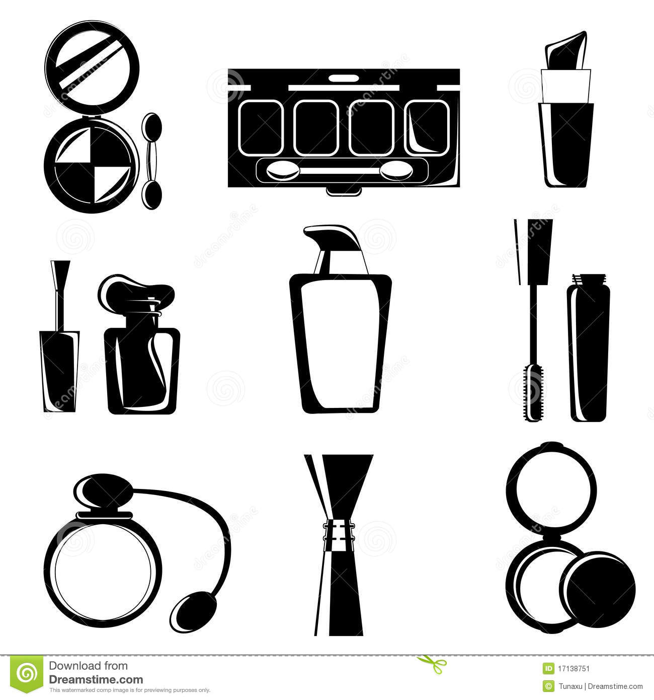 Cosmetic Icons Stock Image