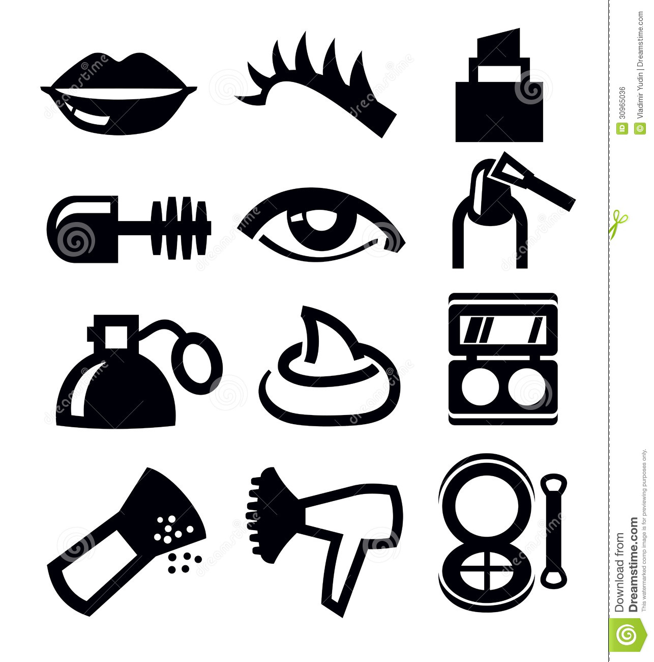 Cosmetics And Makeup Icon Stock Vector Illustration Of