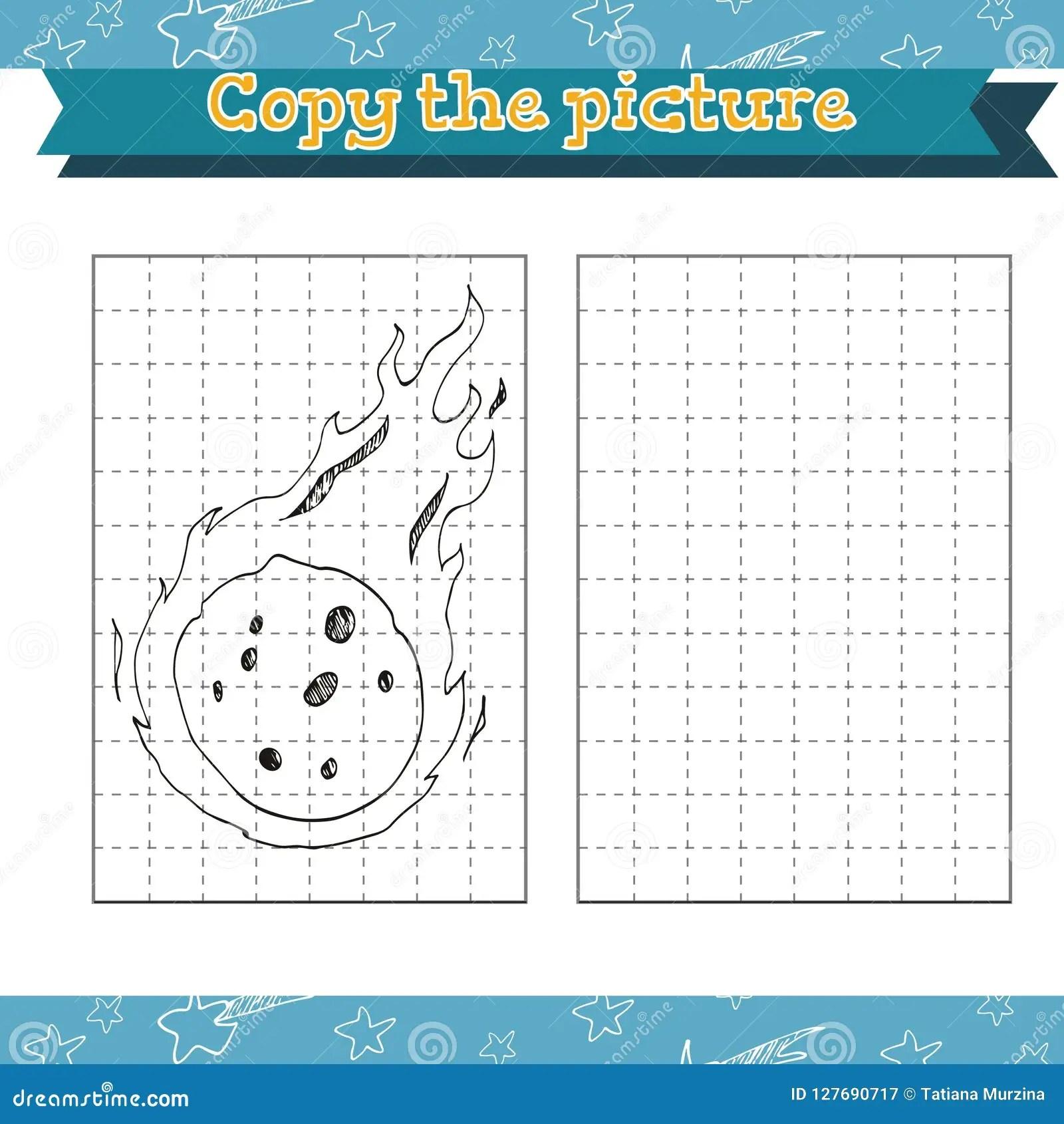 Cosmos Copy The Picture Preschool Or Kindergarten