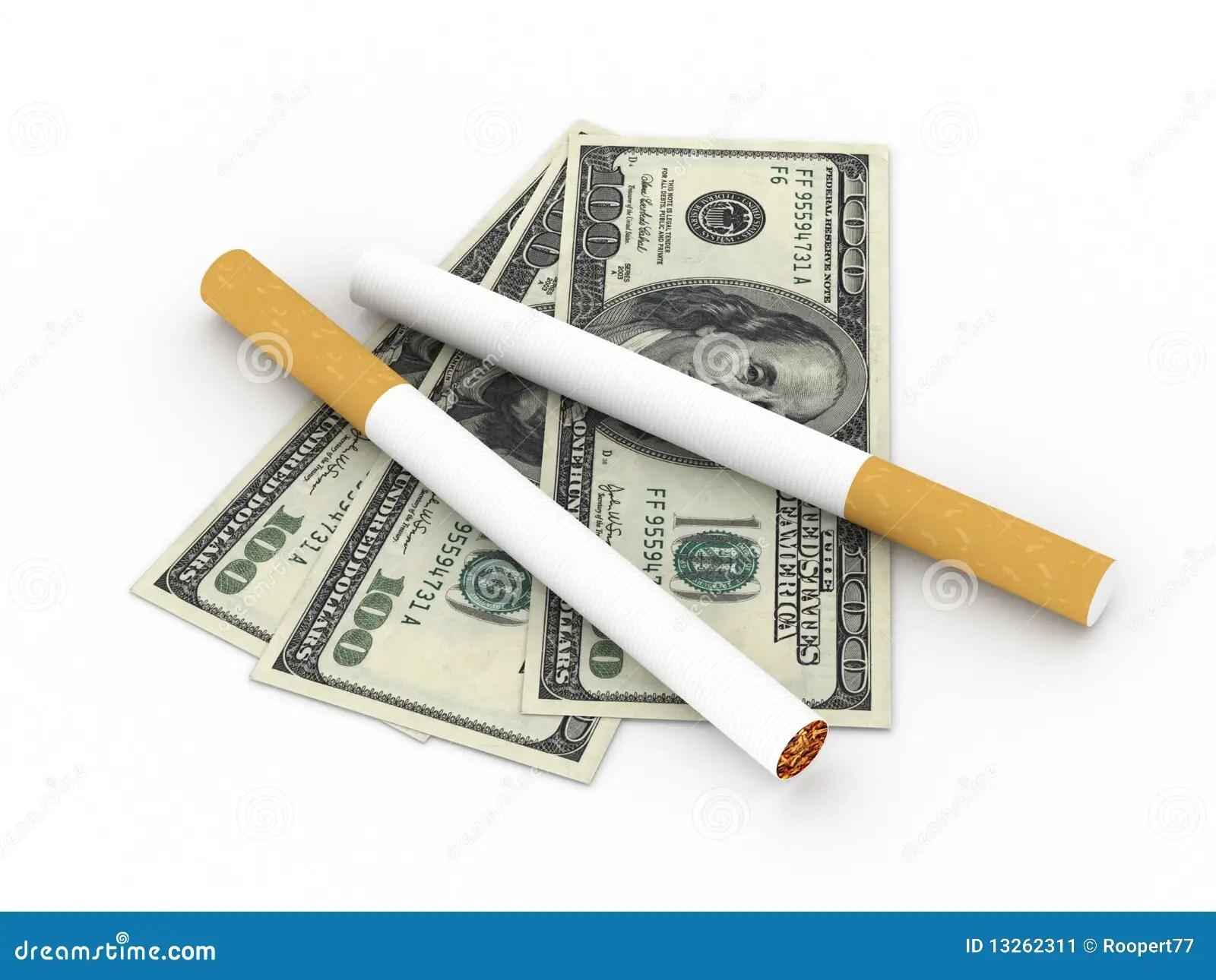 Cost Of Smoking Stock Image