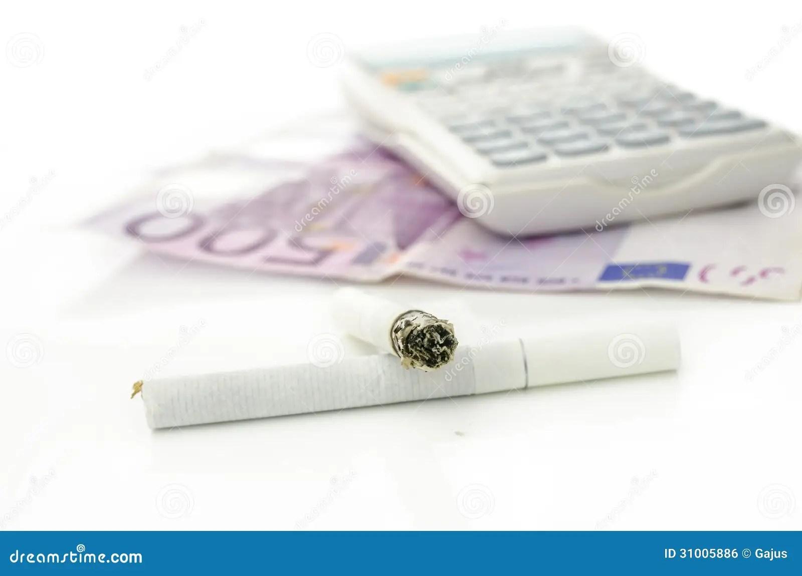 Costs Of Smoking Stock Photo Image Of Spend Price