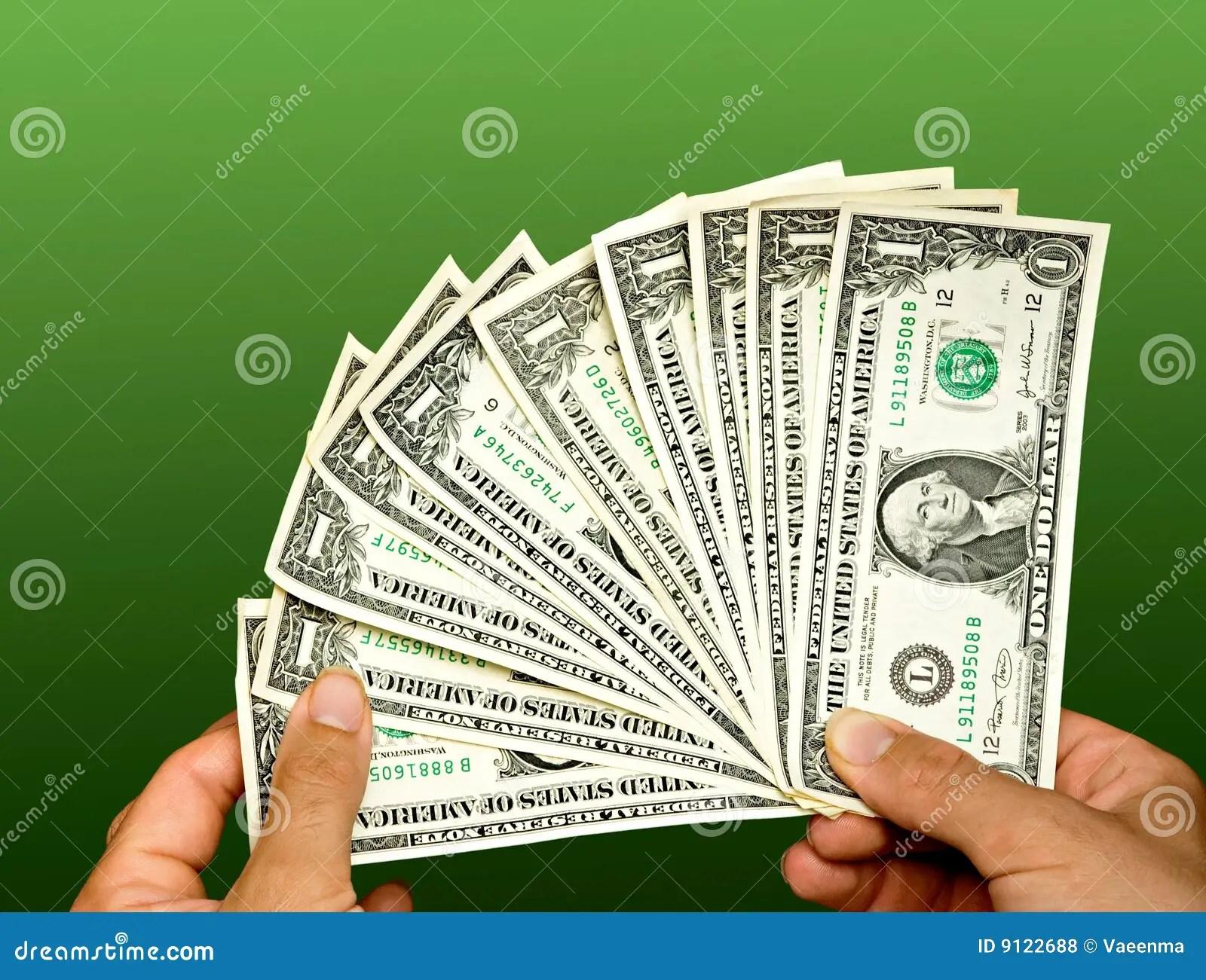 Counting Dollar Bills Stock Photo Image Of Change