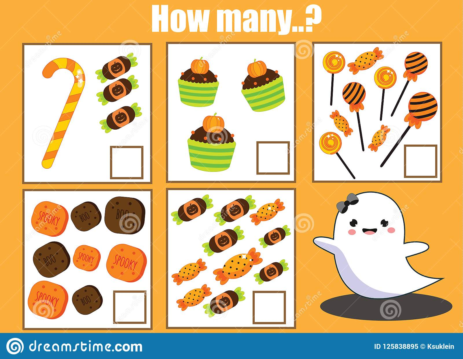 Counting Educational Children Activity Halloween Theme