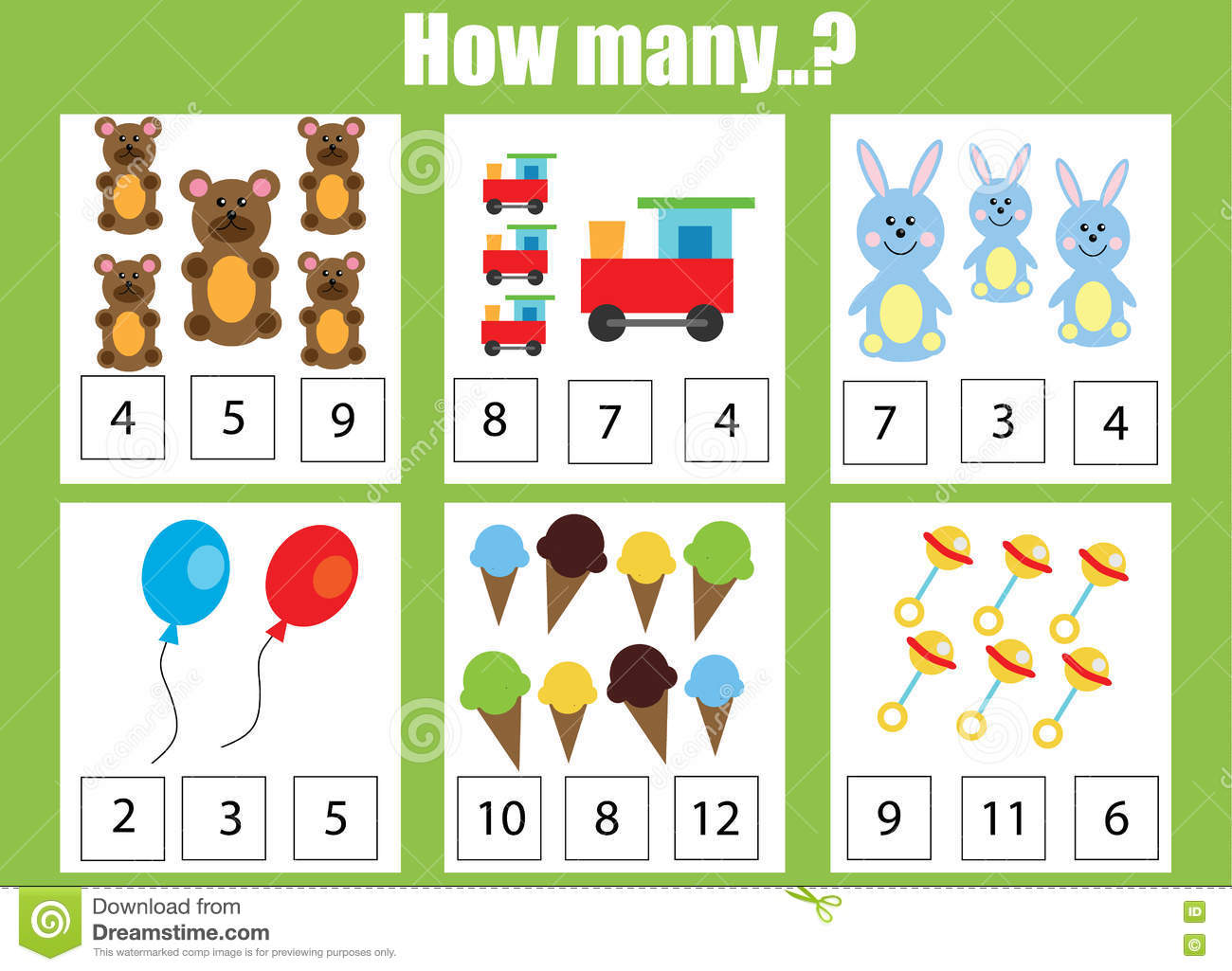 Counting Objects Worksheet To 5
