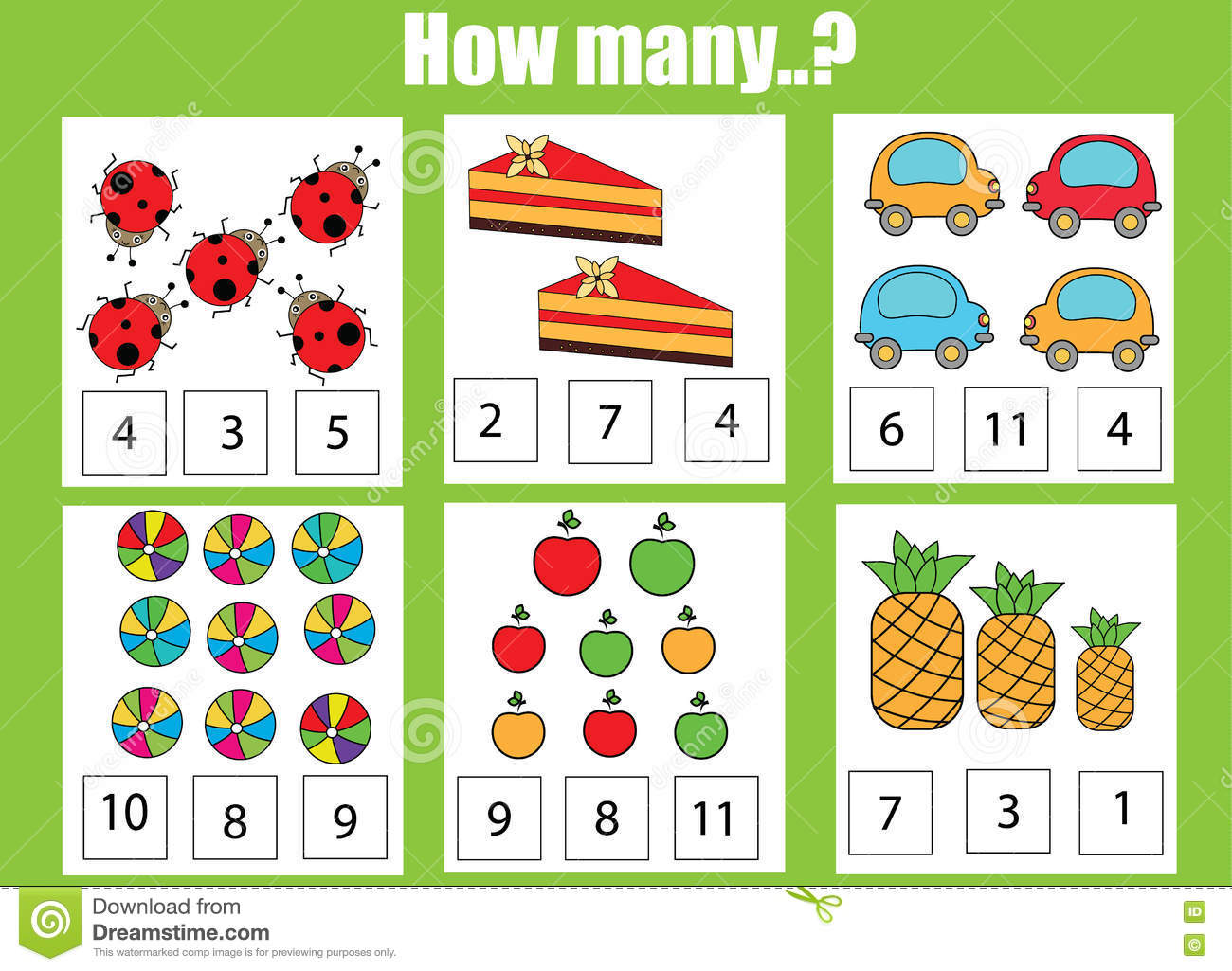 Sesame Street Math Worksheet