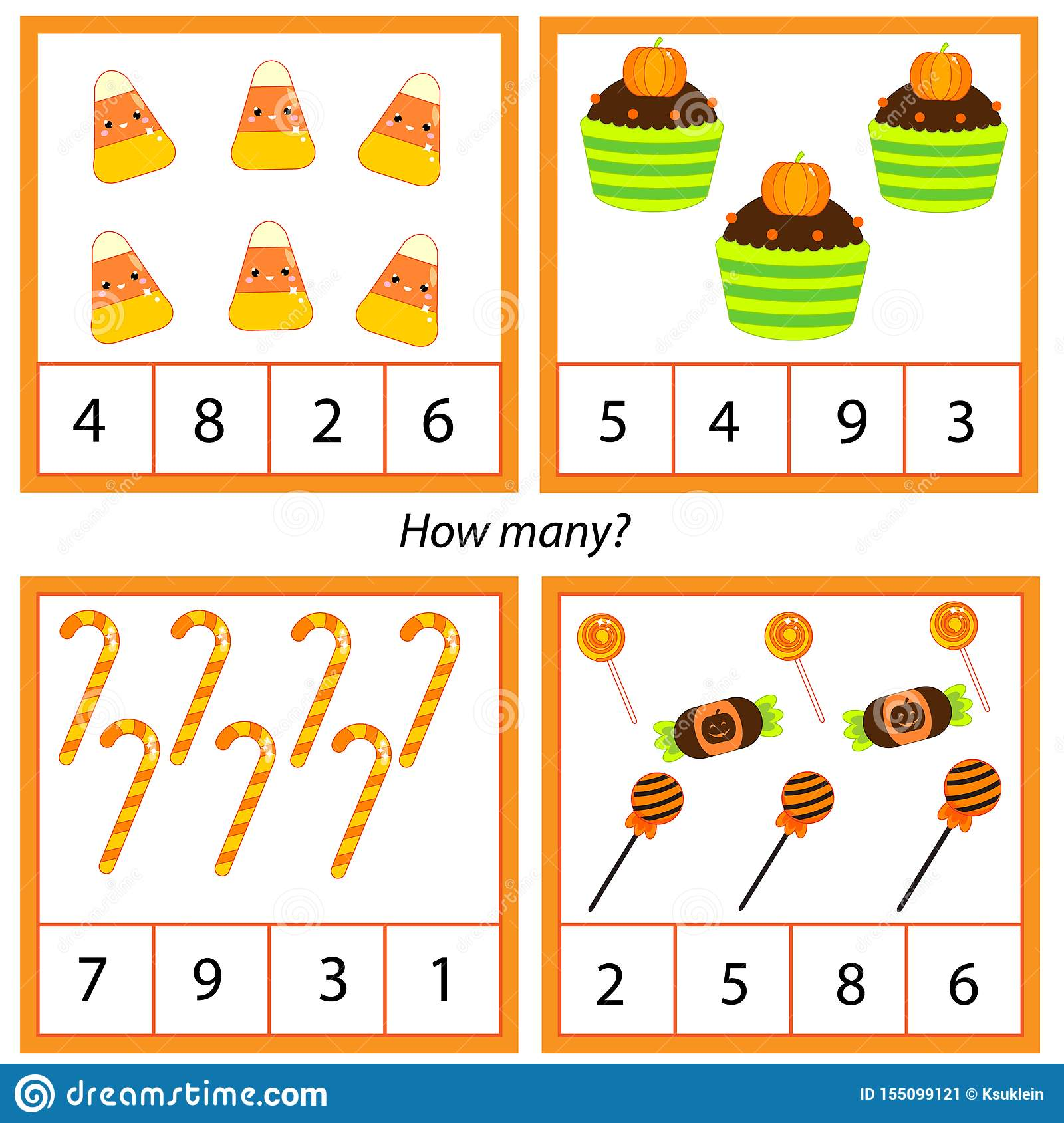 Counting Educational Children Game Study Math Numbers