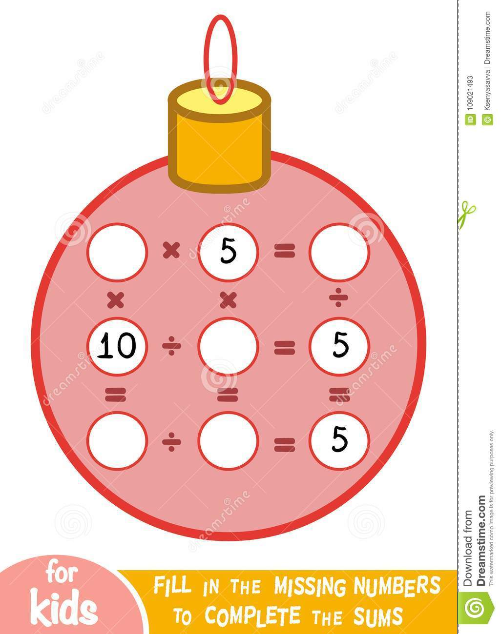 Counting Game For Children Educational A Mathematical
