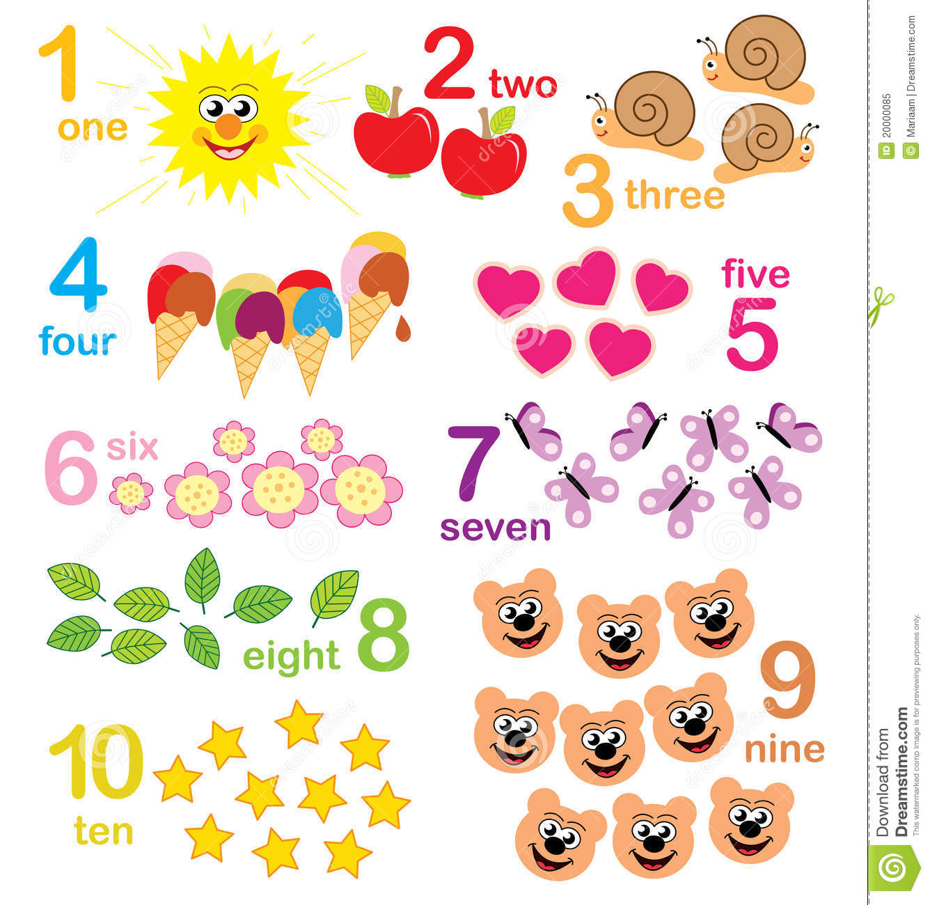 Counting Game For Kids Stock Illustration Illustration Of Cute
