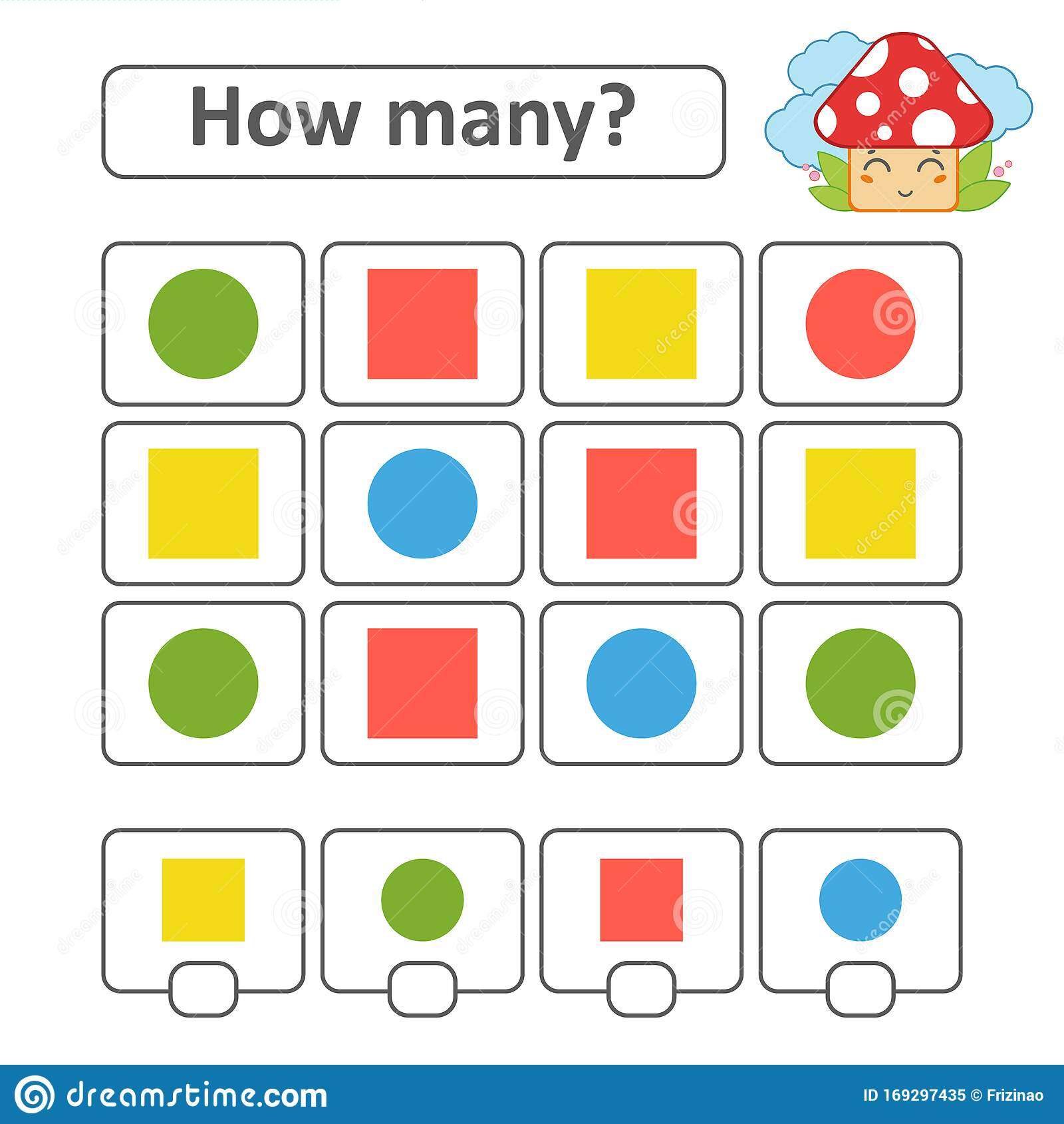 Counting Game For Preschool Children Count As Many