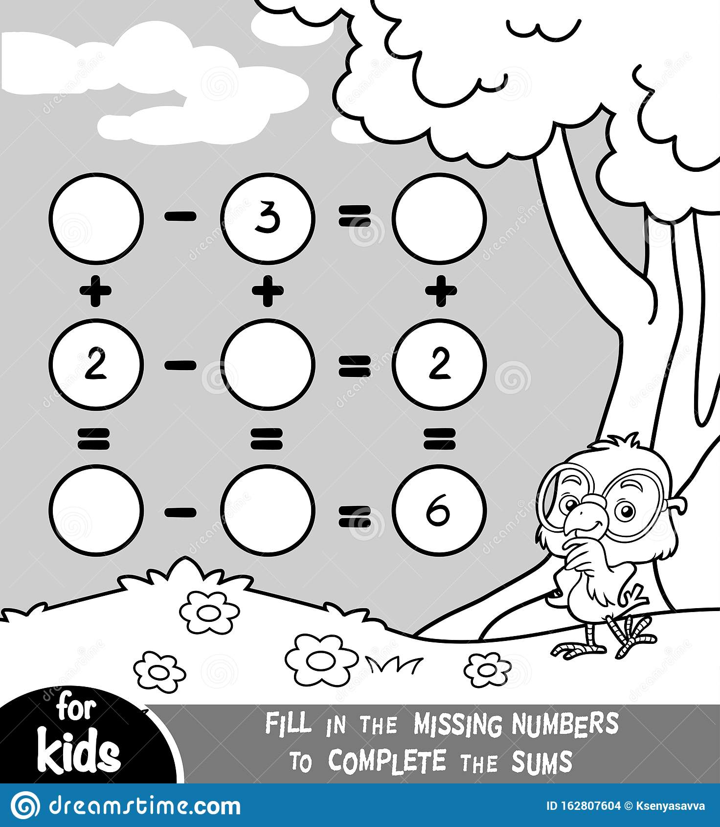 Counting Game For Preschool Children Educational A